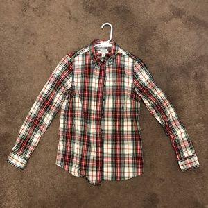 L.L. Bean Women's Scotch Plaid Flannel Shirt